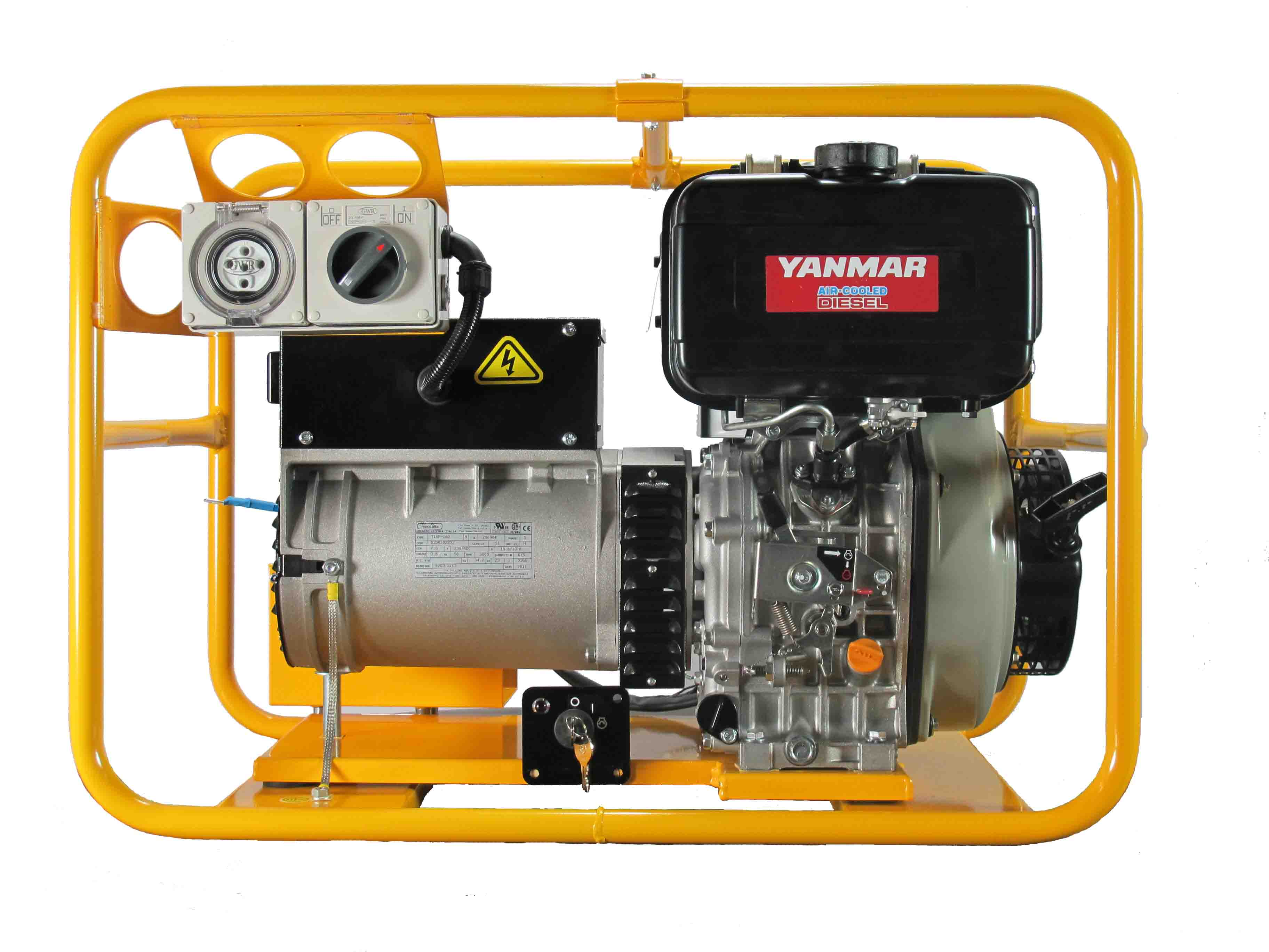 Yanmar Tractor Battery : Pyd e w phase generator with battery