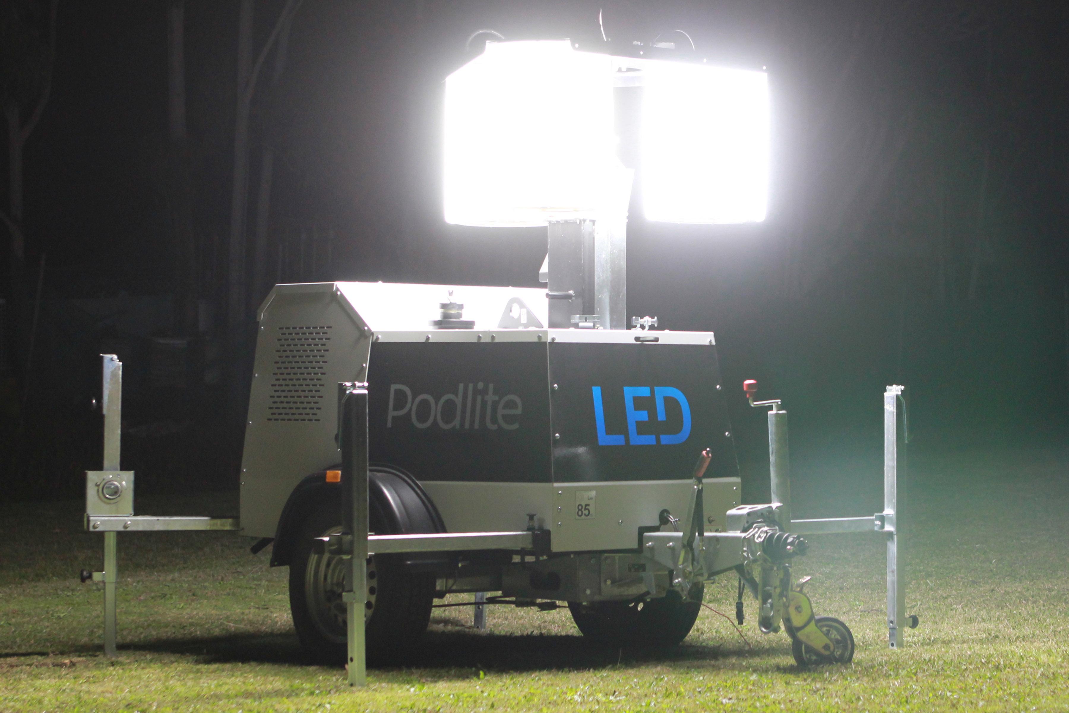 Traffic Light For Sale >> Podlite – 360 LED Lighting Tower | Powerlite Power Generators